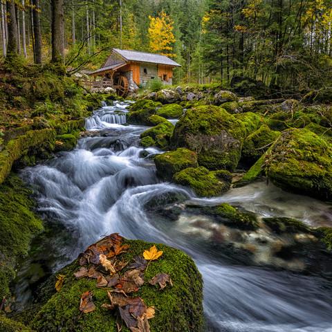 Gollinger Mühle - fotokunst von Günther Reissner