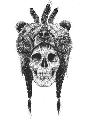 Dead shaman - fotokunst von Balazs Solti