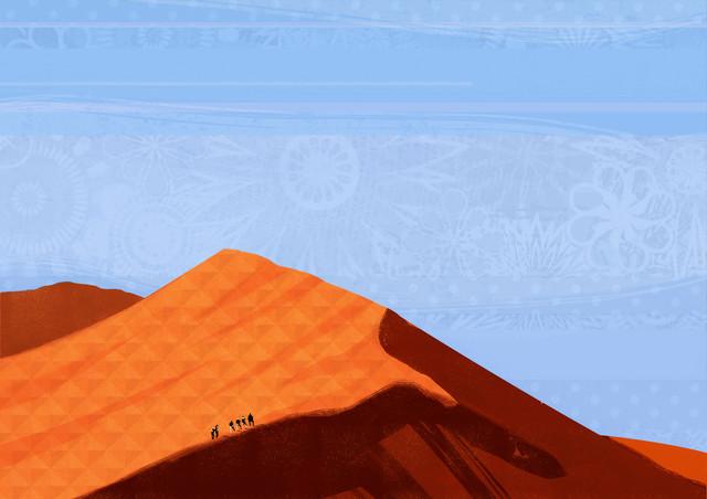 Desert Treck - fotokunst von Katherine Blower