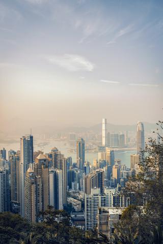 Sonnenuntergang über Hong Kong - fotokunst von Pascal Deckarm