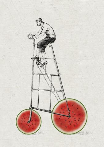 Melonenradler - fotokunst von Christina Ernst