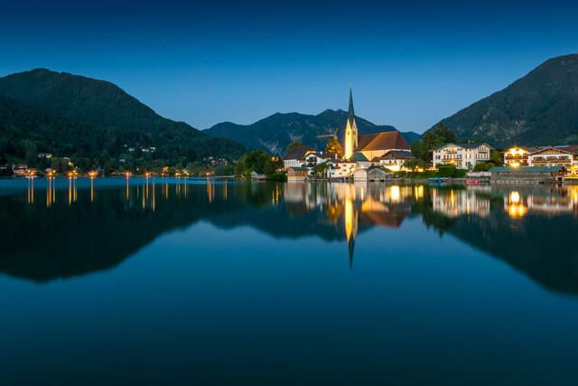 Sommerabend am Tegernsee - fotokunst von Martin Wasilewski