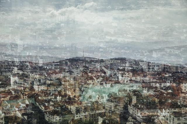 Malerischer Blick über Bielefeld - fotokunst von Nadja Jacke