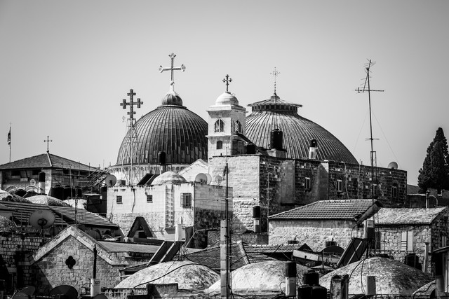 Grabeskirche in Jerusalem, Israel. - fotokunst von Sebastian Rost