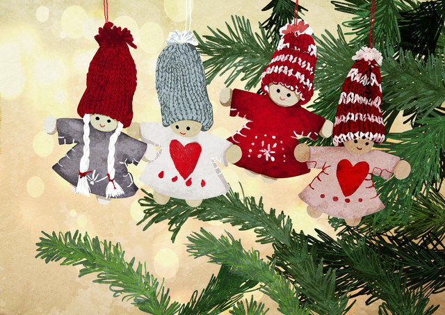 Christmas Tree Dolls - fotokunst von Katherine Blower