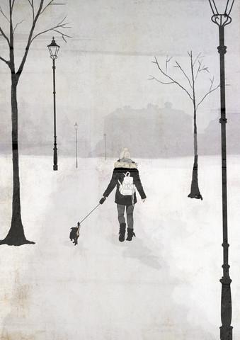 Winter Walk - fotokunst von Katherine Blower