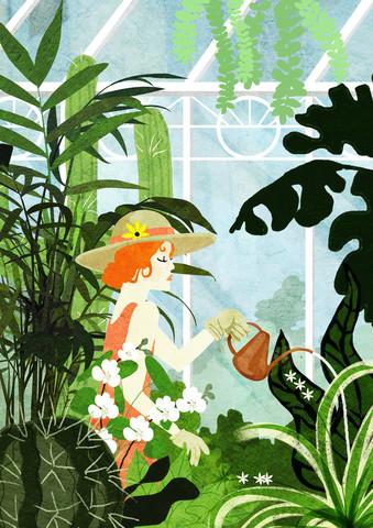 Greenhouse Gardening - fotokunst von Katherine Blower
