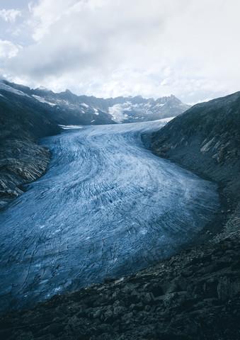 Der Rhonegletscher - fotokunst von Niels Oberson