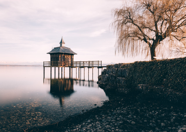 Idylle am See - fotokunst von Niels Oberson