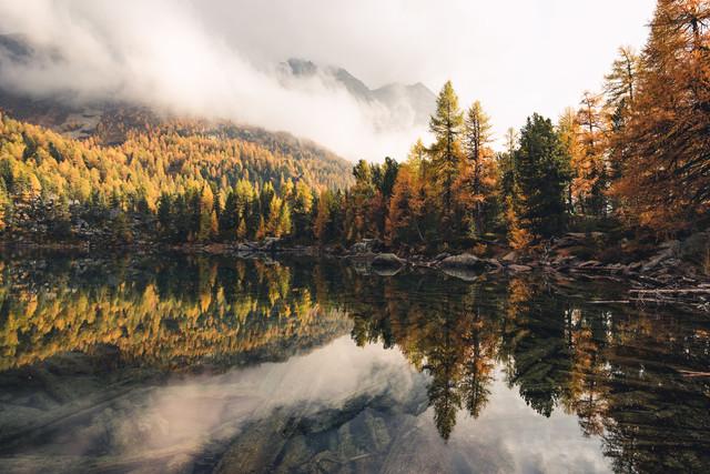 Farbexplosion am Lago di Saoseo - fotokunst von Niels Oberson