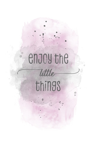 Enjoy the little things | Aquarell rosa - fotokunst von Melanie Viola