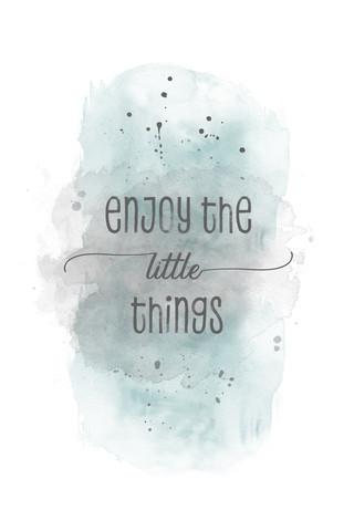 Enjoy the little things | Aquarell türkis - fotokunst von Melanie Viola