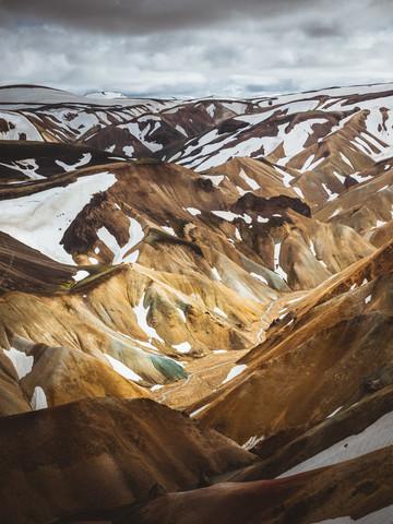 Blick in Landmannalaugar - fotokunst von Roman Huber