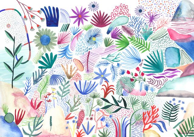 colorful botanicals - fotokunst von Anja Bartelt