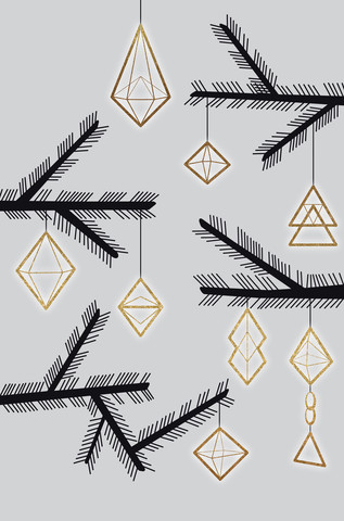abstract christmas decorations - fotokunst von Sabrina Ziegenhorn