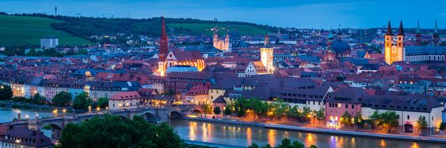 Würzburg Panorama - fotokunst von Martin Wasilewski