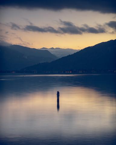 Blick über den Tegernsee - fotokunst von Franz Sussbauer