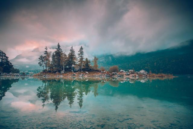 Eibsee bei Sonnenaufgang - fotokunst von Franz Sussbauer