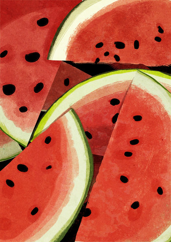 Melon Slices - fotokunst von Katherine Blower