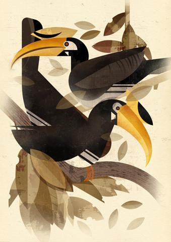 Nashornvogel - fotokunst von Dieter Braun