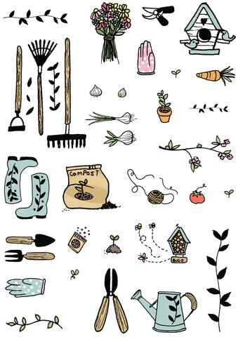 Gardening Tools - fotokunst von Katherine Blower