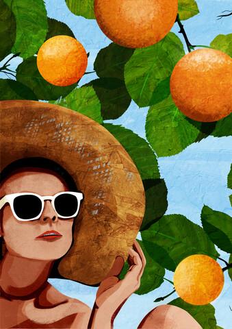 Oranges - fotokunst von Katherine Blower
