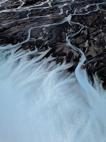 Glacial Rivers - fotokunst von Frida Berg