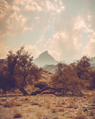 Berggipfel in karger Landschaft - fotokunst von Franz Sussbauer