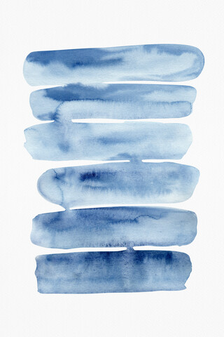 Watercolor Stripes Painting - fotokunst von Cristina Chivu