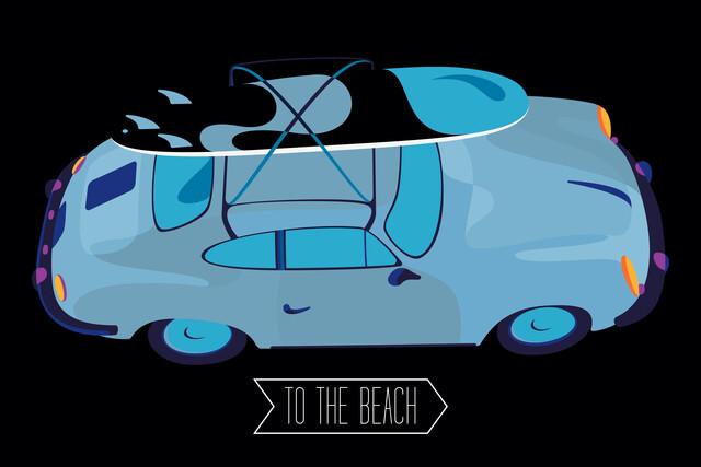 To the beach - fotokunst von Sasha Lend