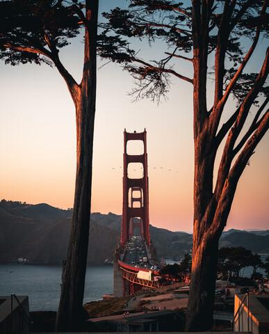 framed Golden Gate - fotokunst von Dimitri Luft