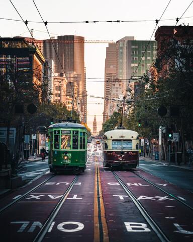 SF tram - fotokunst von Dimitri Luft