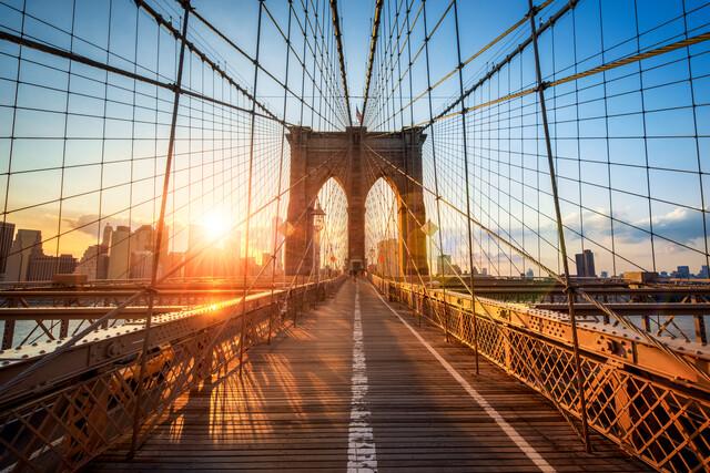 Brooklyn Bridge in New York City - fotokunst von Jan Becke