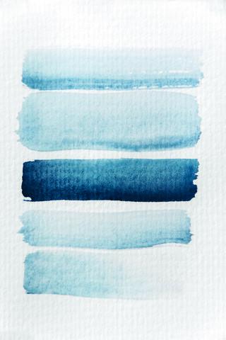Aquarelle Meets Pencil - Stripes - fotokunst von Studio Na.hili