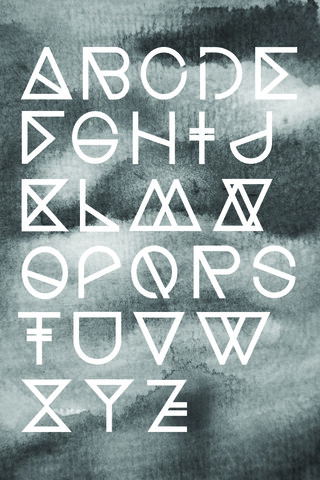 Geometrical ABC - Black Aquarelle - fotokunst von Studio Na.hili