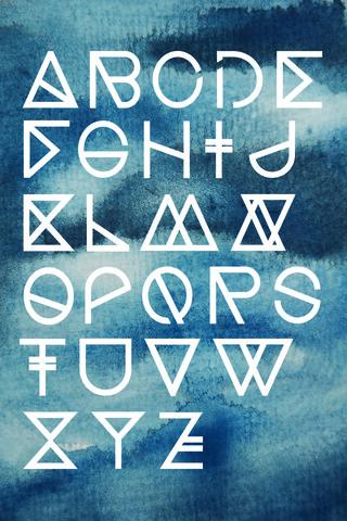 Geometrical ABC - Ink Aquarelle - fotokunst von Studio Na.hili