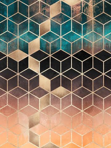 Ombre Dream Cubes - fotokunst von Elisabeth Fredriksson
