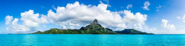 Mont Otemanu des Bora Bora Atolls - fotokunst von Jan Becke