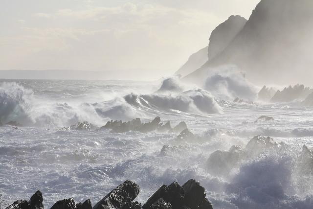 Stormy coast - fotokunst von Bernd Pfleger
