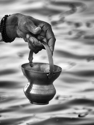 The Ganges - fotokunst von Jagdev Singh
