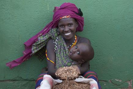 Walter Luttenberger, die getreidespende (Kenia, Afrika)