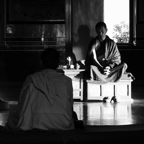 Jagdev Singh, monks (Nepal, Asien)