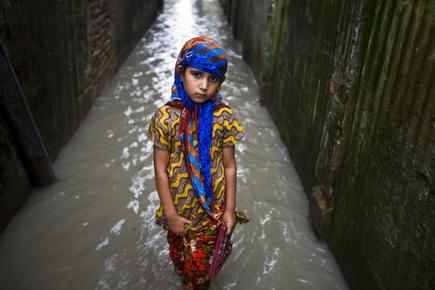 Jashim Salam, tidal surge (Bangladesh, Asien)