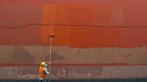 Thomas Heinrich, Man painting a wall (Peru, Lateinamerika und die Karibik)