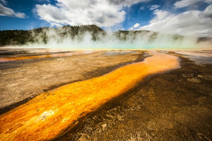 Michael Stein, Grand Prismatic Spring on a cold Day (Vereinigte Staaten, Nordamerika)