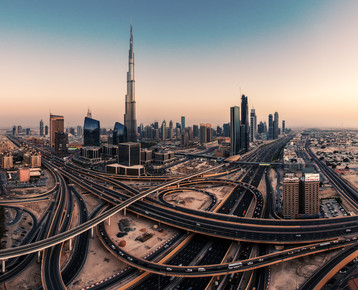 Jean Claude Castor, Dubai - Skyline Panorama (Vereinigte Arabische Emirate, Asien)