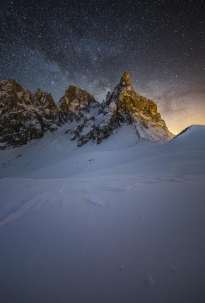 Christian Schipflinger, klare Nacht in den Dolomiten (Italien, Europa)