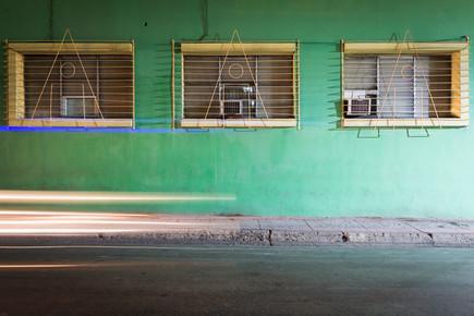 Eva Stadler, Green facade and headlights (Kuba, Lateinamerika und die Karibik)
