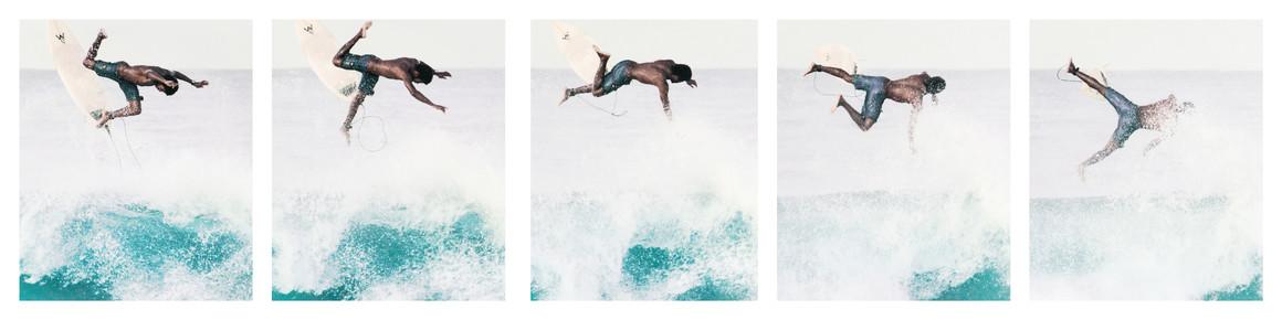 Johann Oswald, Caribbean Surfer Collage (Costa Rica, Lateinamerika und die Karibik)