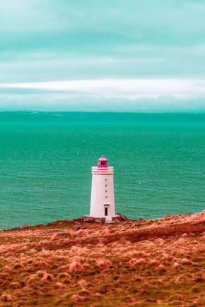Susanne Kreuschmer, blue sea lighthouse (Island, Europa)